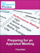 Preparing for Appraisal Meeting