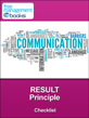 RESULT Communication Principle Checklist
