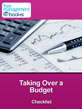 Taking Over a Budget Checklist