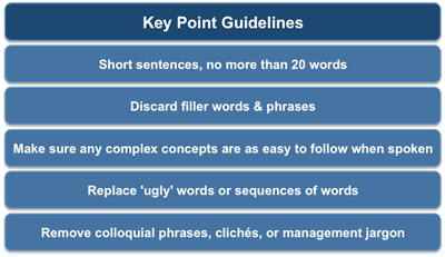 Presentation key point guidelines