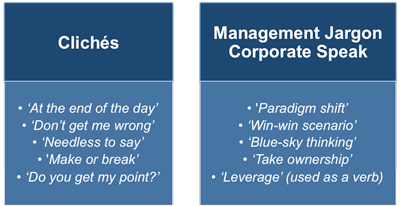 Avoiding management jargon and clichés