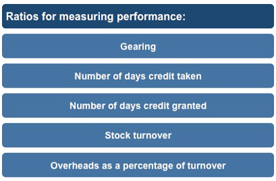 Financial ratios for measuring performance