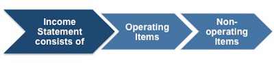 An income statement consists of both operating and non-operating items