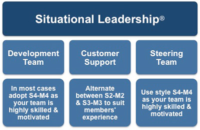 Situational leadership and the example teams