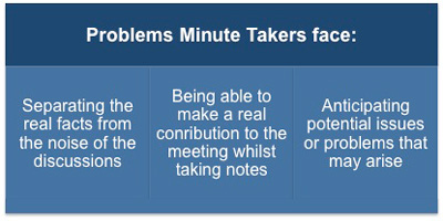 Problems minute takers face