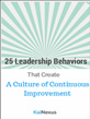 25 Leadership Behaviors Offer