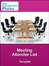 Meeting Attendee List Template