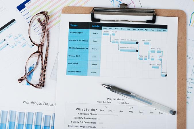 Project management documentation list