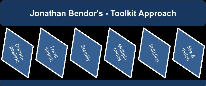 Jonathan Bendor's Toolkit Approach