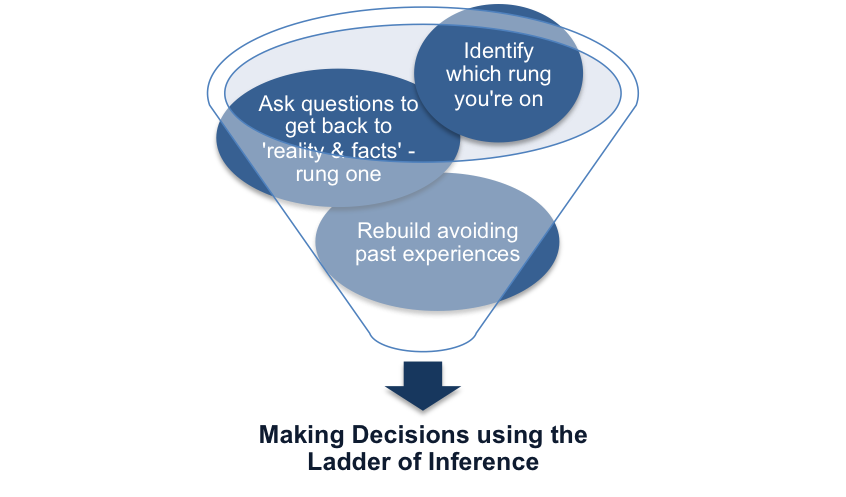 Making Decisions using the Ladder of Inference