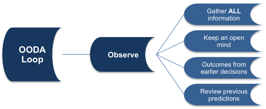 The Observe Stage of the OODA Loop